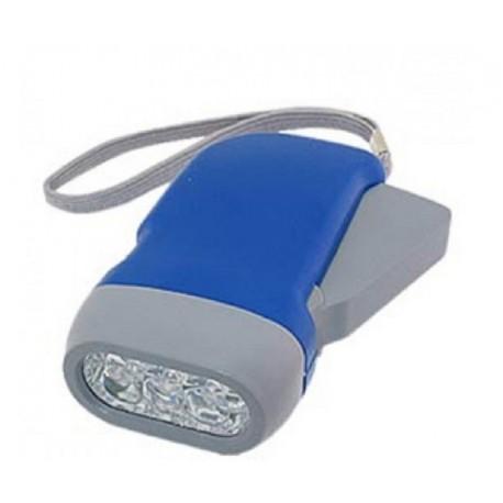 Linterna dinamo LED bateria recargable sin pilas coche bolsillo
