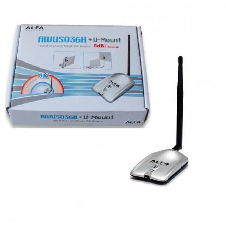 Alfa AWUS036H v5 1W RTL8187L USB Antena WIFI AWUSO36H