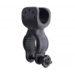 Montura soporte para linternas bicicleta Pinza giratoria 360º hasta 36mm