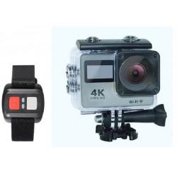 Camara 4k WiFi 16Mp UltraHD Sport Cam controle remoto H. 264 MOV 170ª A