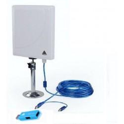 Melon N4000 antena WiFi panel 36dbi con 10 metros cable USB +