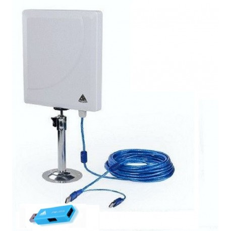 Melon N4000 antena WiFi panel 36dbi con 10 metros cable USB +