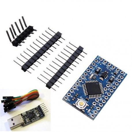 Arduino PRO MINI atmega328P com USB série cp2102 TTL Kit cabo