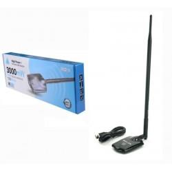 WIFI USB Antenne MELONE 3000MW N3000 11DBi high gain VERSTÄRKER AP