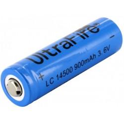 UltraFire Bateria de litio pila 14500 AA 3,7V 900mAh recargable