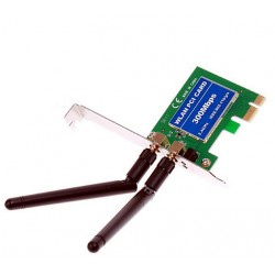 Carte WIFI PCI-E pci Express 300mbps n 2 antennes RT3690 MiMo