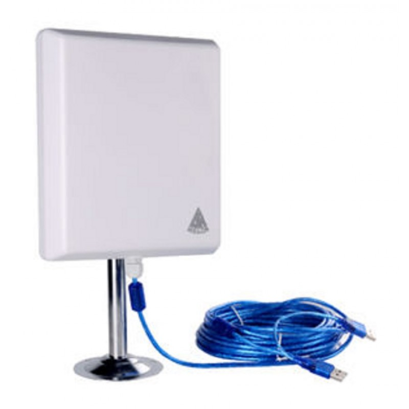 36dbi antena panel wifi 2000mw usb 10m cable 2w melon n810 for Antenne wifi exterieur