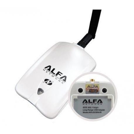 Alfa AWUS036NHR mimo antena USB WIFI N 2000mW 2W RTL8188RU 150MB