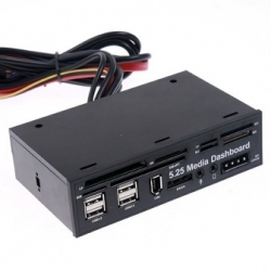 Panel frontal Multimedia Dashboard 5.25'' 525B USB dni-e SIM CF