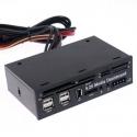 """Painel frontal Artigo Dashboard 5.25"""" 525B USB bi-e SIM CF"""