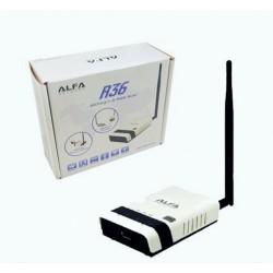 Roteador rede Alfa R36 com USB para o repetidor wi-fi firmware atualizado