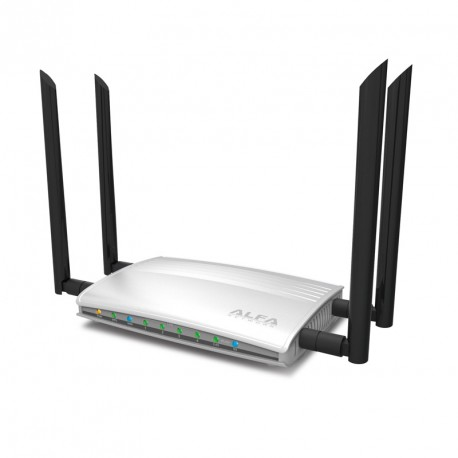 AC1200R router Alfa Gigabit Giga-Fast Dual band 4 antenas 2 USB