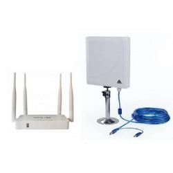 Kit de répéteur Wifi avec Antenne, 300 mbps + routeur avec Open-Wrt USB AP