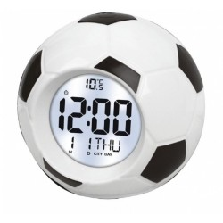 Reloj que dice hora español despertador digital balon futbol voz