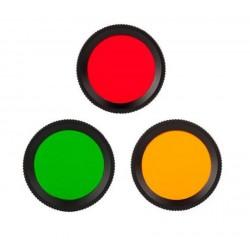 Filtro de colores para linternas ACEBEAM L16 - EC50 - EC60 modelo FR30 Verde rojo naranja