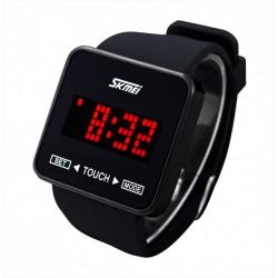 Horloge LED lumière japonais écran tactile numérique texte de