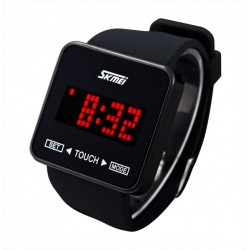 SKMEI 0950Men LED touch screen watch silicone Band Wristwatch