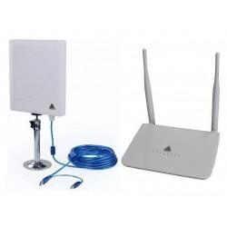 Kit de Antena WIFI Melon N519 + Router R568 OpenWrt repetidor de WIFI