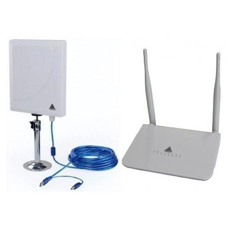 Kit de Antena wi-fi Melon N4000 + Router R568 OpenWrt repetidor