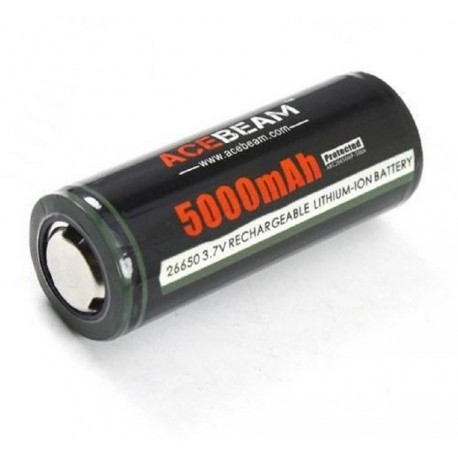 AceBeam ARC26650NP--500A battery lithium rechargeable protected