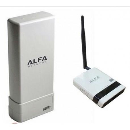 Pacchetto ripetitore WIFI Antenna USB UBdo + Router Alfa R36