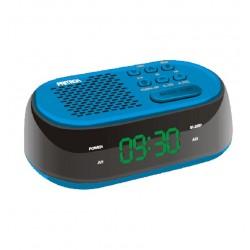 Rádio Relógio Despertador com carregador USB diodo EMISSOR de luz FM Alarme duplo