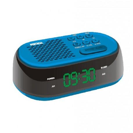 Radio Reloj Despertador con USB cargador LED FM Alarma doble