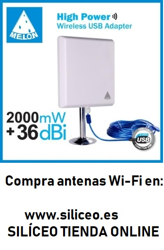 36dbi antena Panel WIFI 2000mw USB 10m cable 2W MELON N810 beini