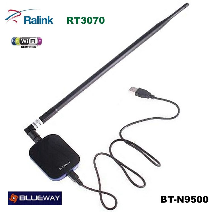 USB WIFI N 2W antena 18dBi Blueway 150mbps BT-N9500 RT3070
