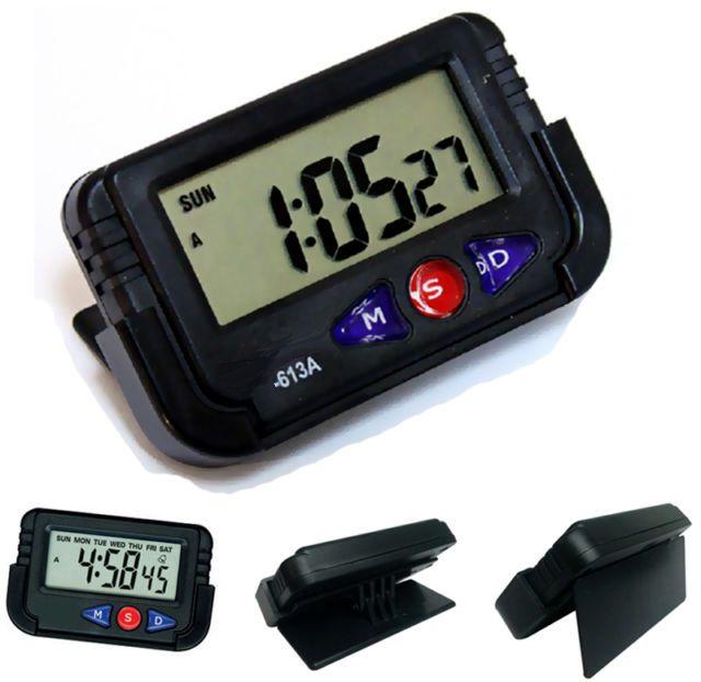 Reloj digital para coche moto bici calendario despertador for Reloj digital de mesa