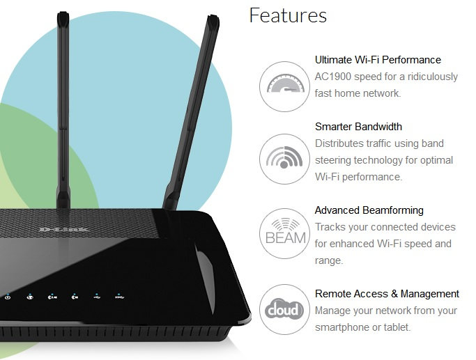 gigabit router wifi ac1900 dual core dual dlink router control parental greentooth Gallery