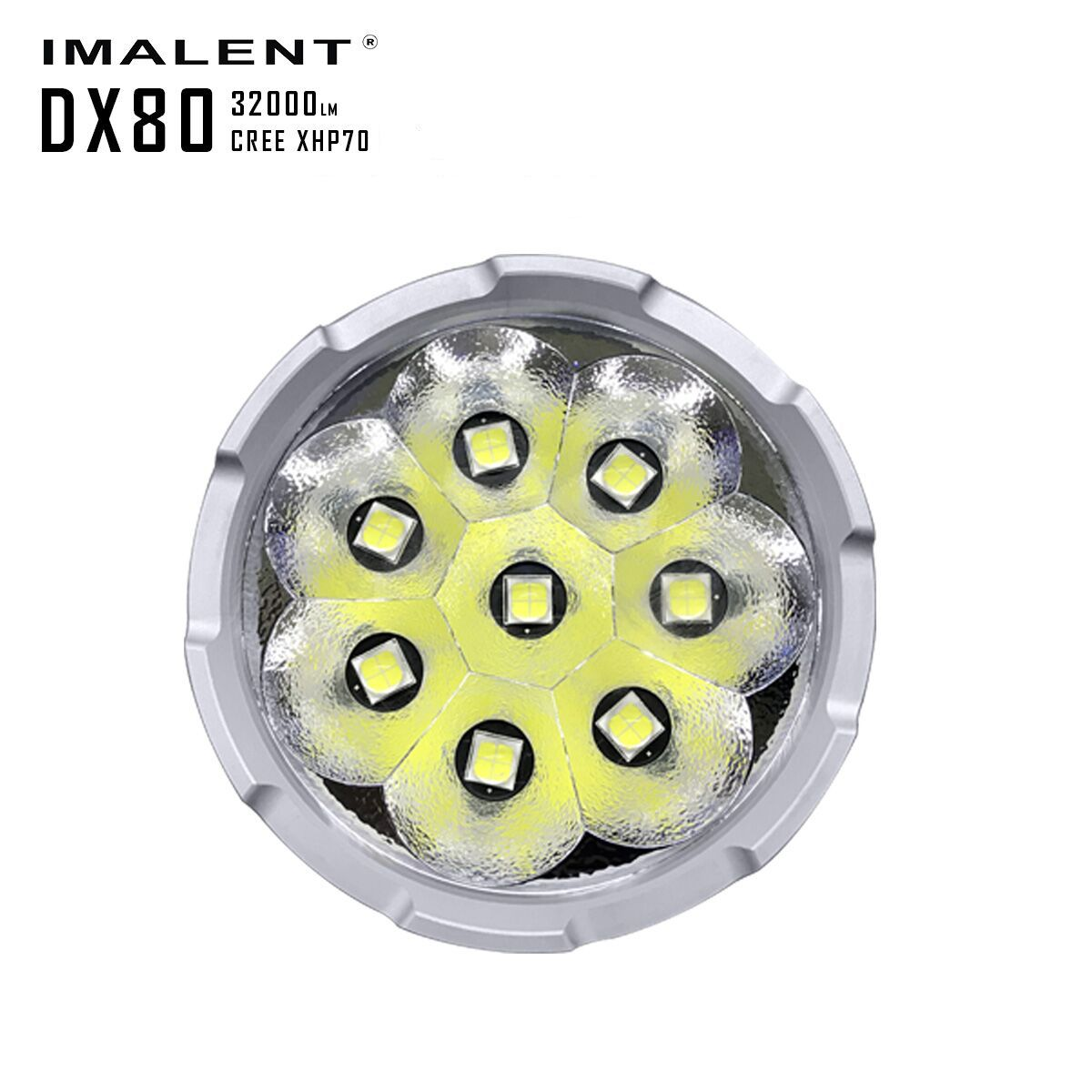 IMALENT DX80 32000LM 8 LED CREE