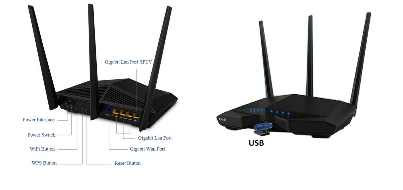▷ AC1900 WiFi Router Gigabit beamforming