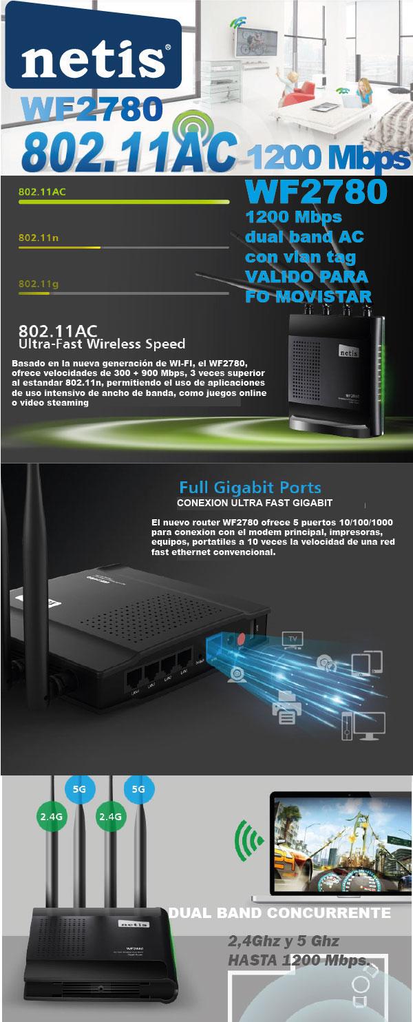 netis router gigabit barato