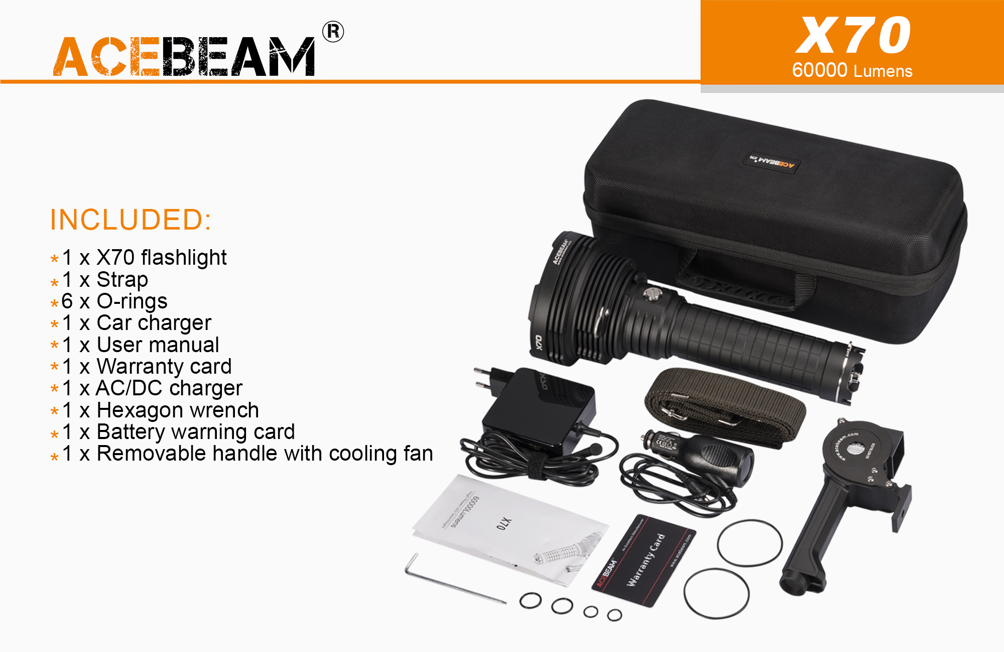Linterna Acebeam X70, Review y video Unboxing