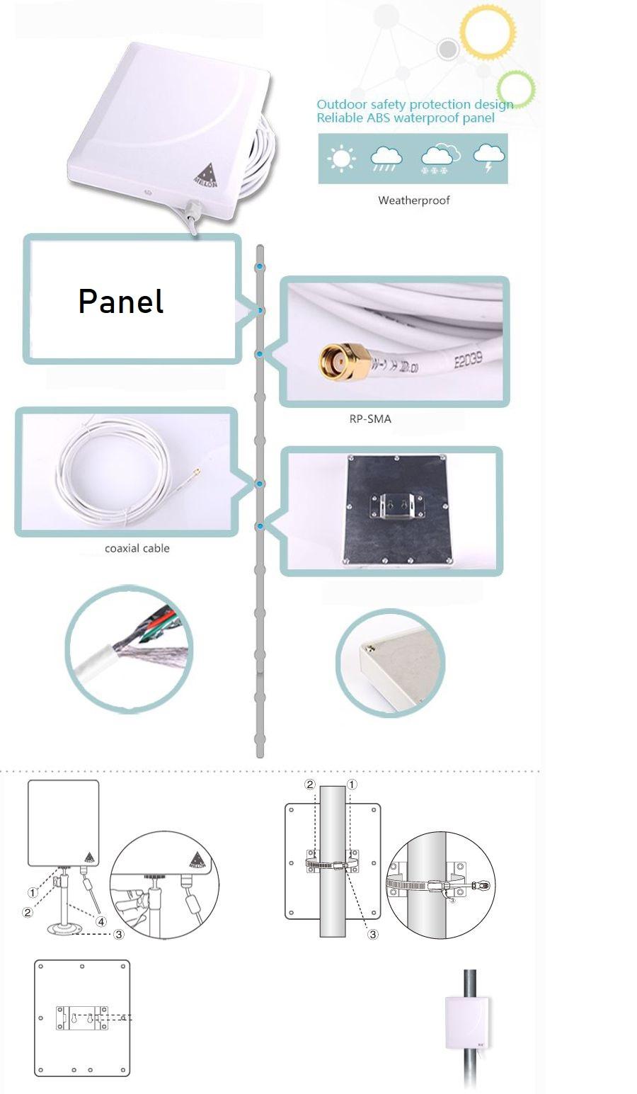 36dbi panel SMA conector