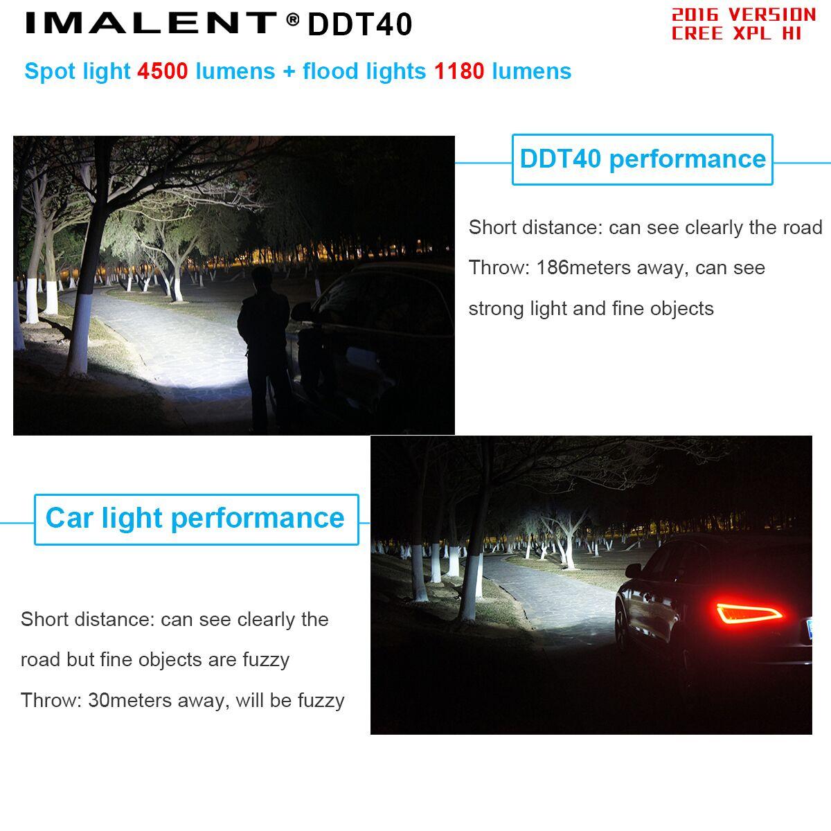 linterna DDT40 Imalent con luces de suelo y lectura