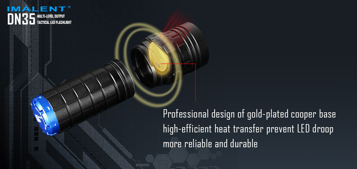 Linterna LED con Oro