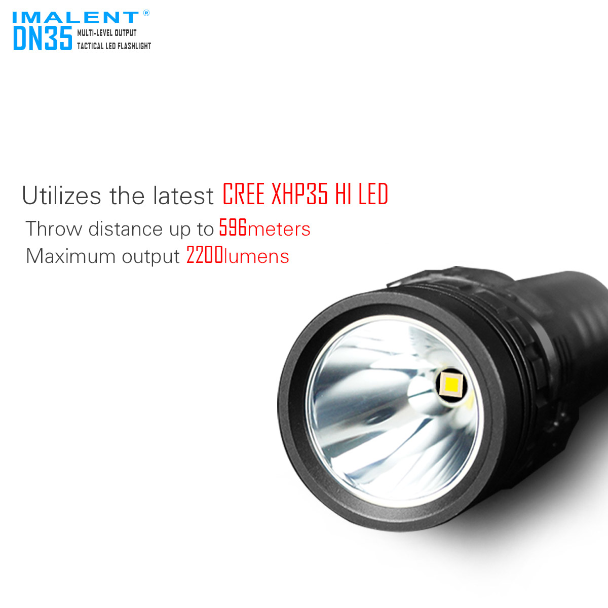 DN35 Linterna LED muy potente