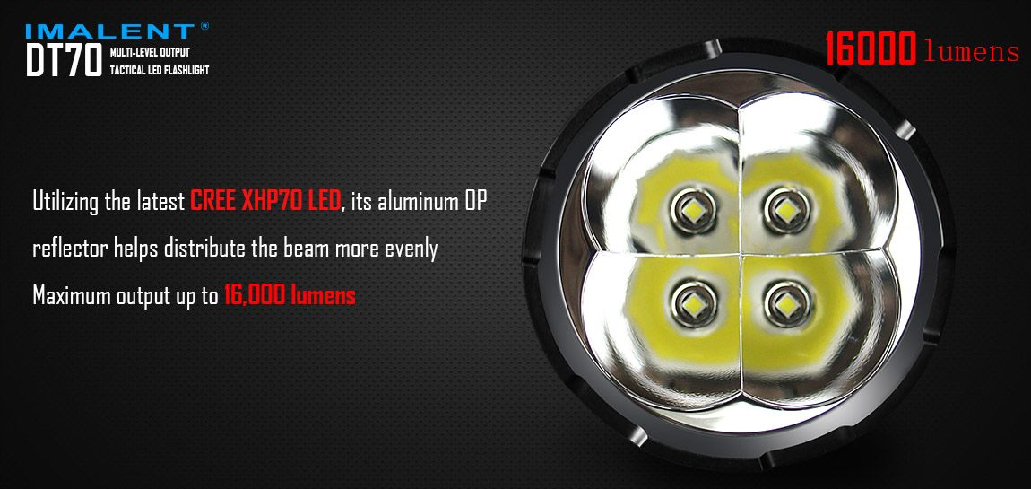 4 LED Cree XHP70