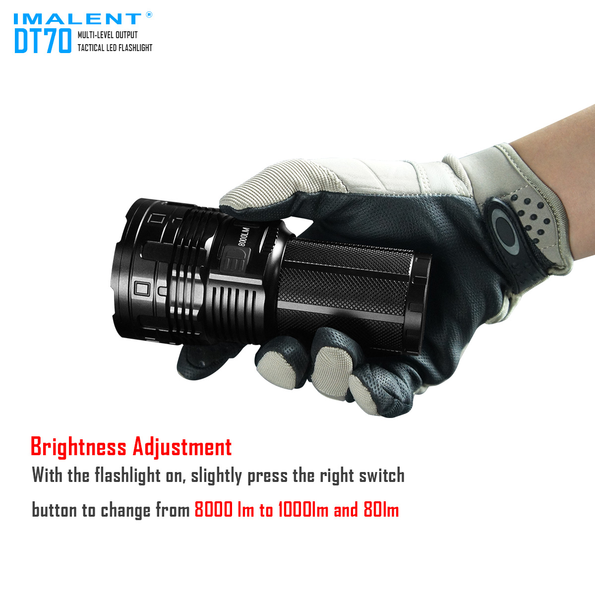 DT70 IMALENT linterne recargable 16000