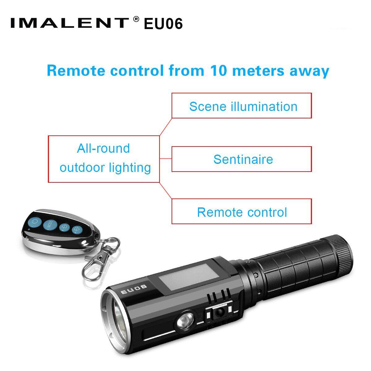 linterna LED con mando a distancia