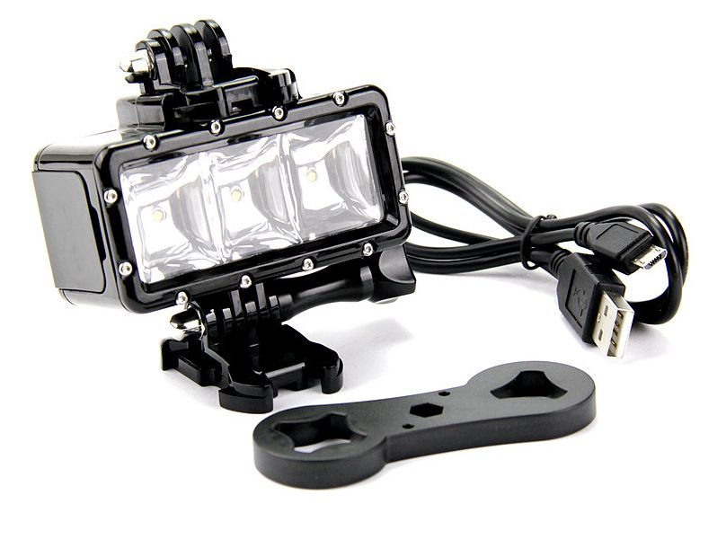 LUZ LED GOPRO HERO sumergible