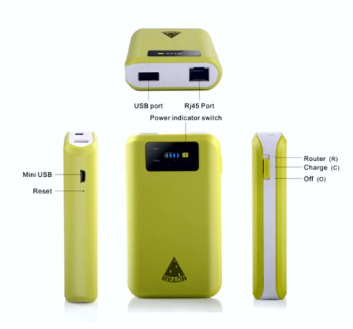 Portable ROUTER Battery