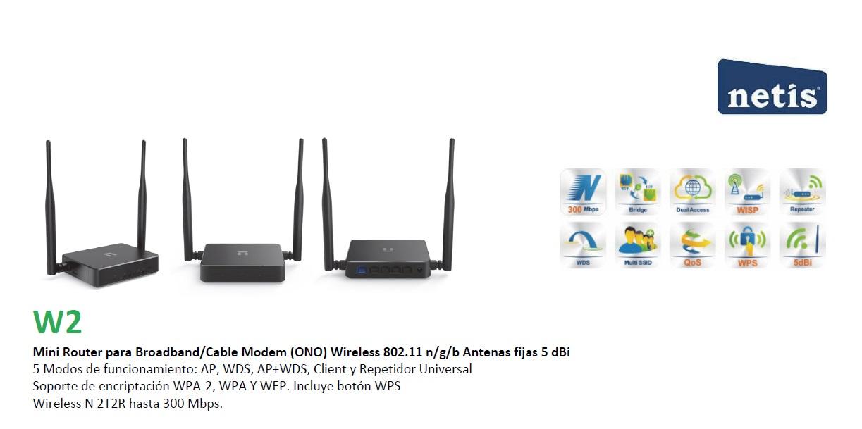 netis w2 router barato wisp