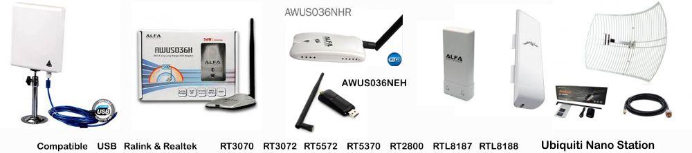 compatible router con antena USB