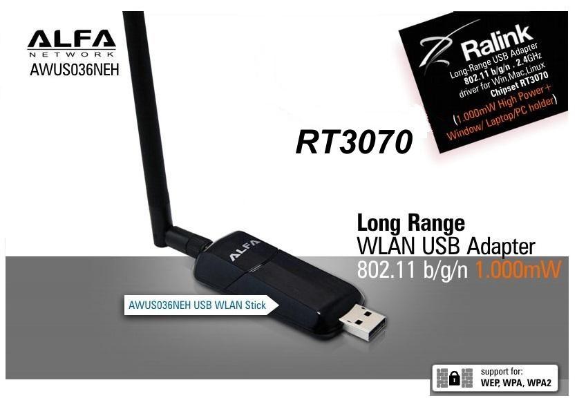 ▷ WIFI adapter Alfa AWUSO36NEH + U-mount USB