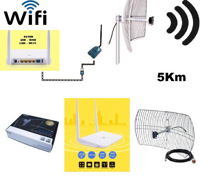 wifi parabolique alfa r658n