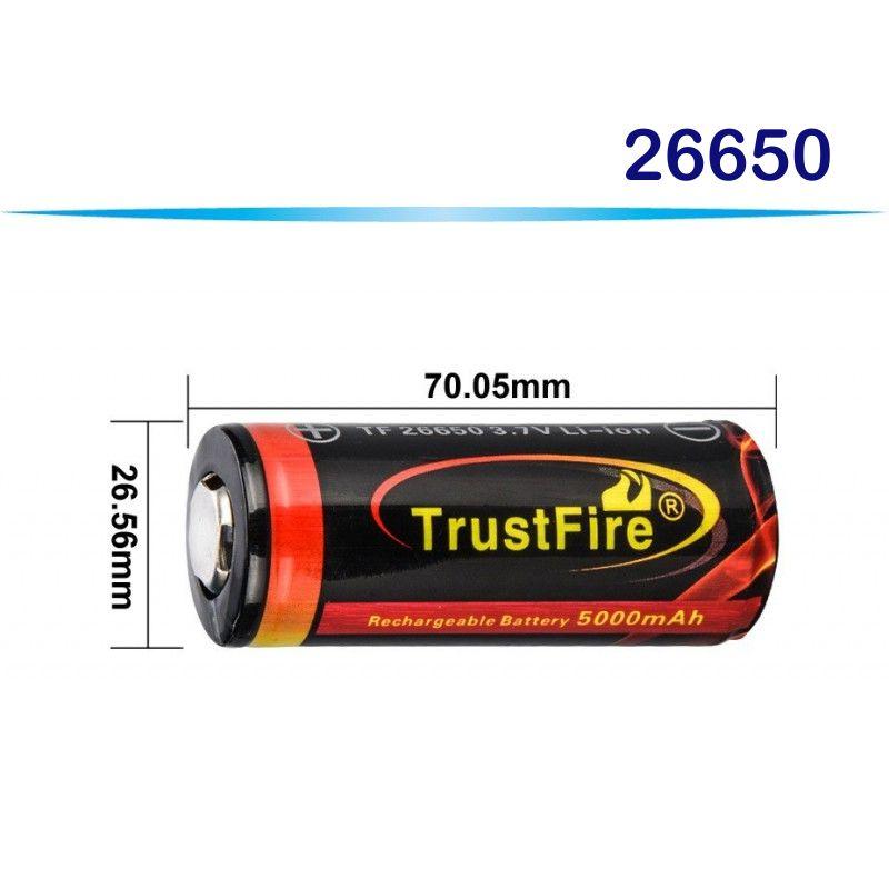 TF-26650 TRUSTFIRE RECARGABLE 5000MAH