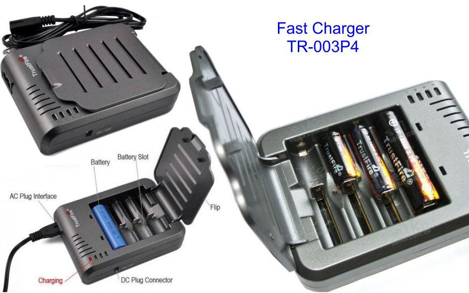 cargador baterias cilíndricas trustfire tr-003p4